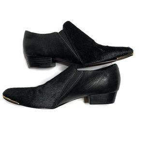 Isola Black Faux Fur Leather Shoes